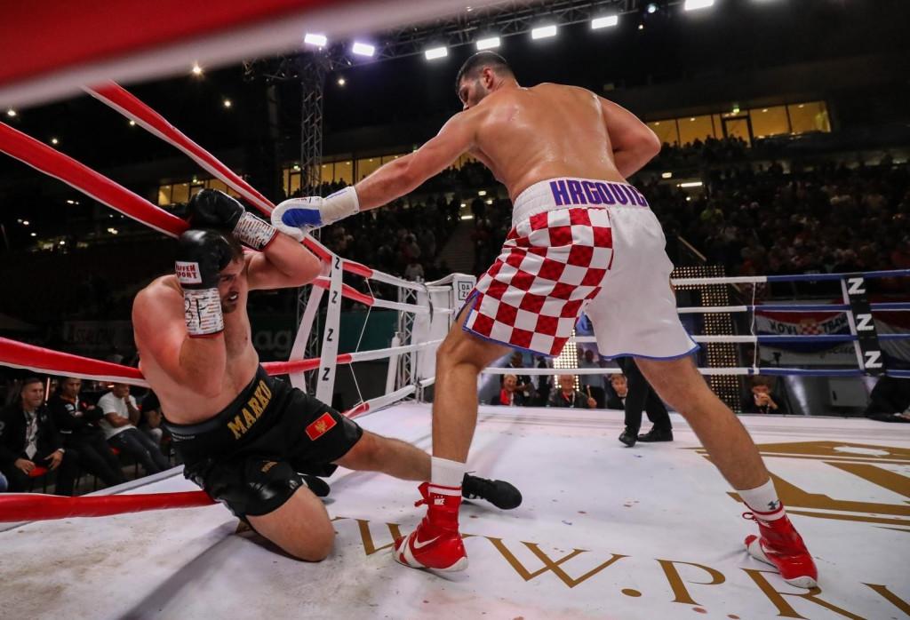 <p>10.09.2021,Klagenfurt,Austrija - Boksacki spektakl, mec za titulu Filipa Hrgovica i Marka Radonjica.</p>