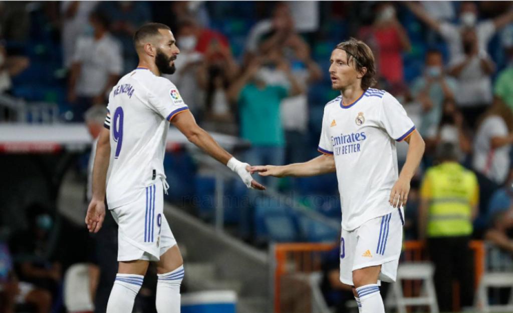 <p>Karim Benzema i Luka Modrić</p>