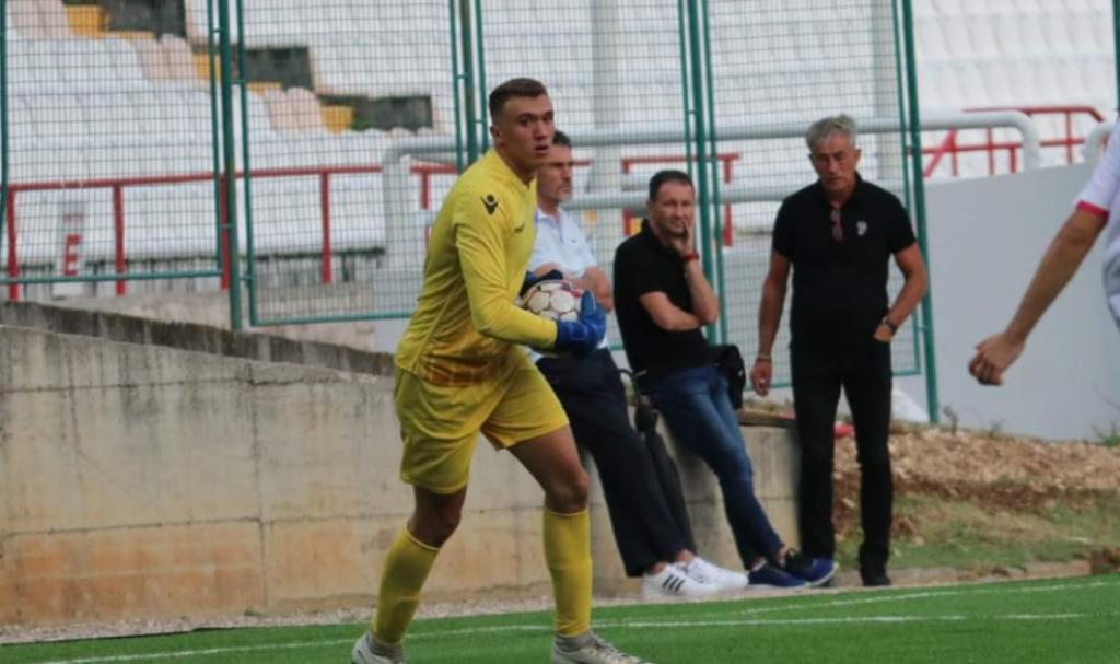 <p>Mladi vratar Zrinjskog Ante Bačić</p>