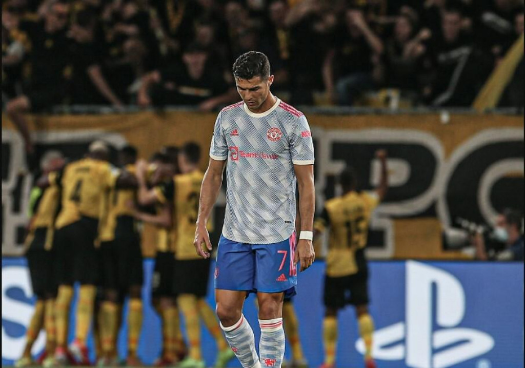 <p>Cristiano Ronaldo razočaran</p>