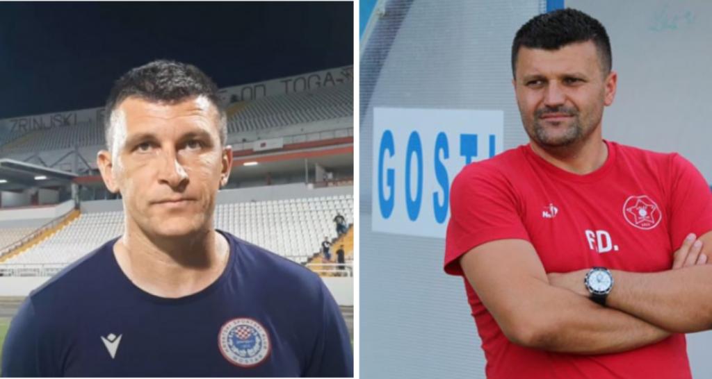 <p>Treneri Zrinjskog i Veleža Sergej Jakirović i Feđa Dudić</p>