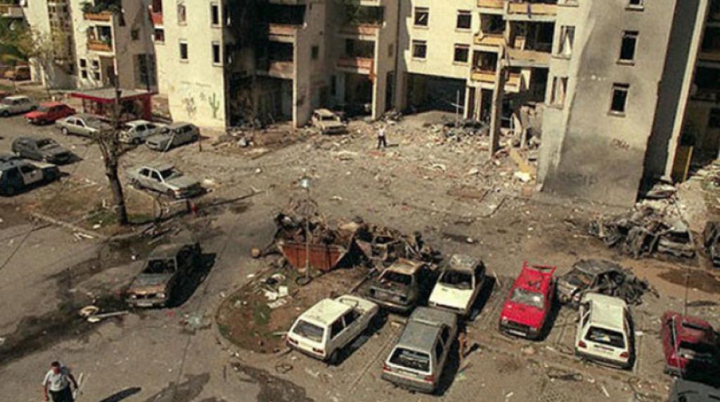 <p>Mjesto izvršenja terorističkog napada u Mostar</p>