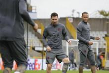 <p>Lionel Messi na treningu</p>