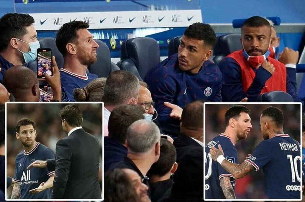 <p>Messi nervozan nakon što je zamijenjen</p>