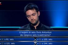 <p>Pitanje na kome je zapeo natjecatelj</p>