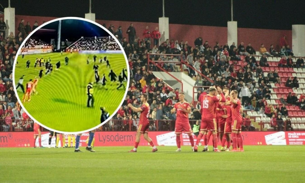 <p>Huligani uletjeli na teren za vrijeme utakmice</p>