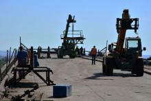 <p>Gradilište novog mosta preko Save kod Bosanske Gradiške</p>