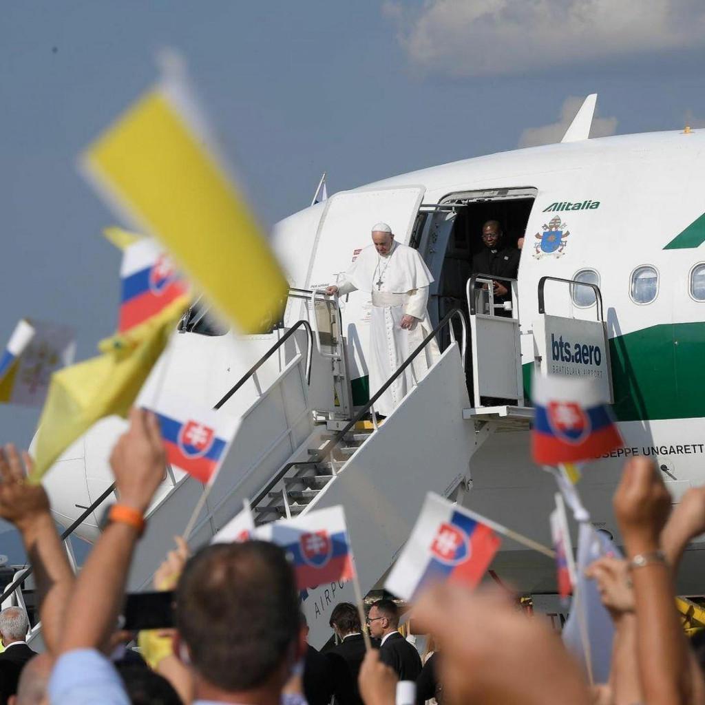 <p>Papa Franjo u Slovačkoj</p>