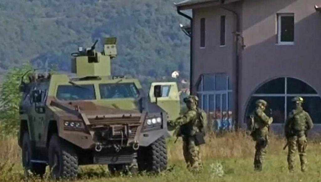 <p>Vojska Srbije nadomak granice s Kosovom</p>