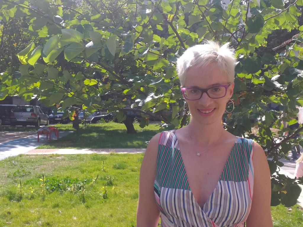 <p>Anja Puhalo Nikolić, voditeljica mostarskih mažoretkinja</p>