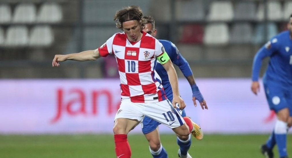 <p>Hrvatski kapetan Luka Modrić</p>