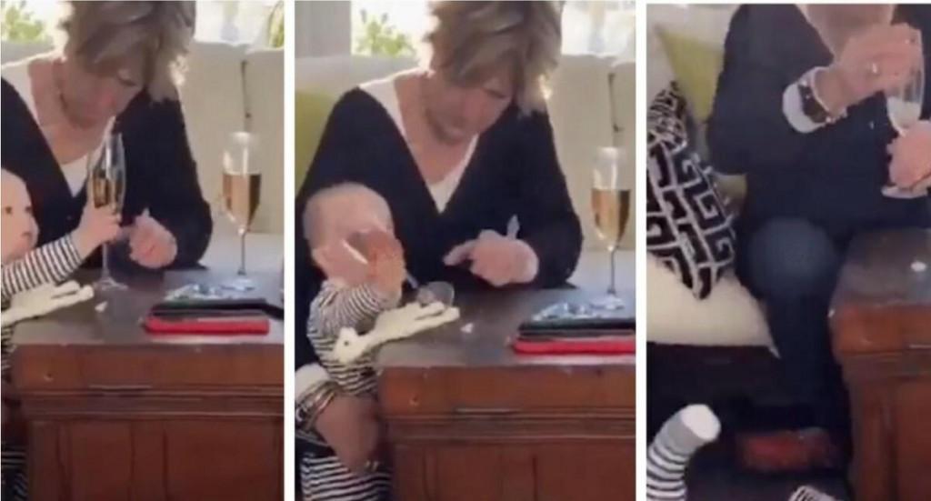 <p>Baka pustila bebu da padne kako bi spasila svoju čašu šampanjca</p>