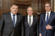<p>Dodik, Lavrov i Vučić</p>