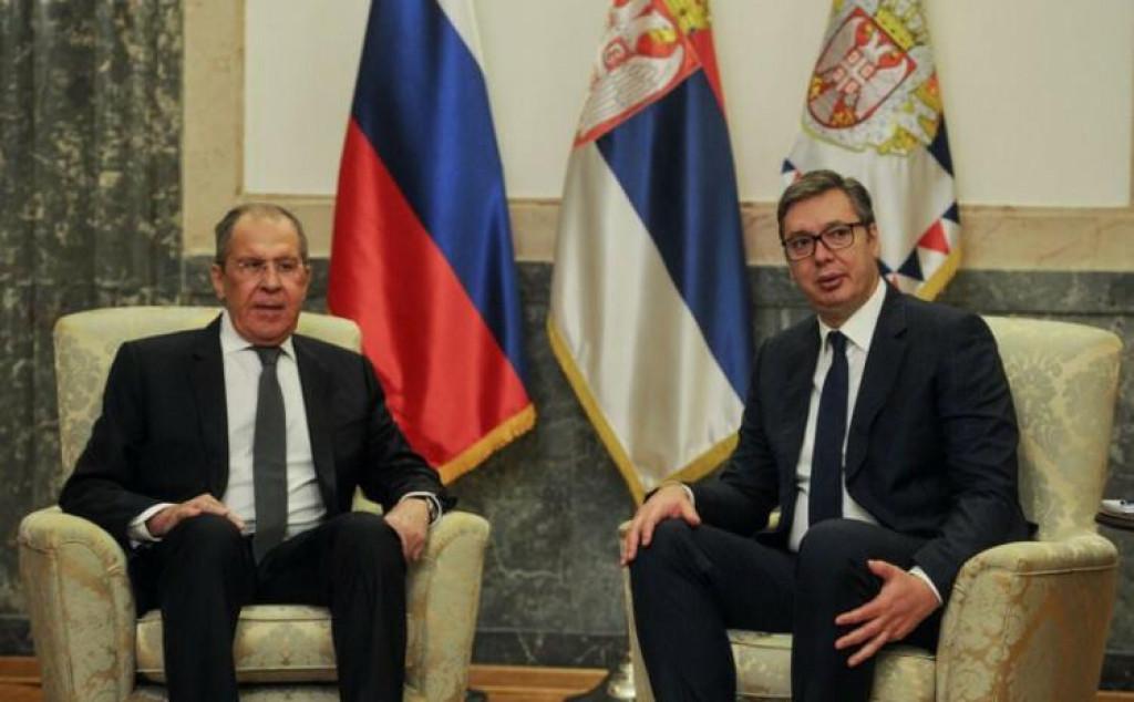 <p>Sergej Lavrov i Aleksandar Vučić</p>