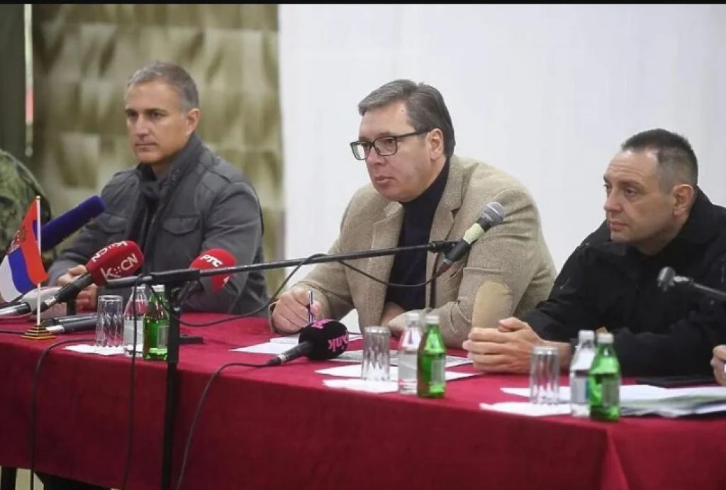 <p>Vučić na današnjem skupu u Raškoj</p>