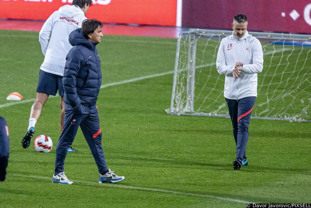 <p>10.10.2021., Osijek - Trening hrvatske nogometne reprezentacije uoci kvalifikacijske utakmice za odlazak na SP 2022. godine u Katar protiv Slovacke. Zlatko Dalic</p>