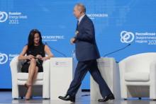 <p>Hadley Gamble i Vladimir Putin</p>