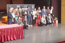 <p>Specijalna nagrada za partnersku igru Robertu Peharu i Saši Oručeviću</p>
