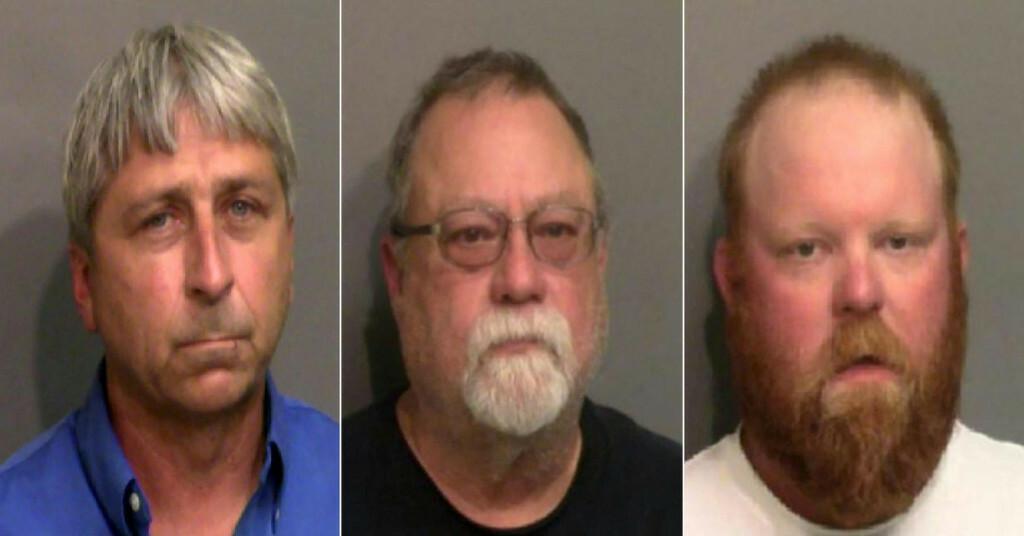 <p>Optuženi William Roderick Bryan, Gregory McMichael i Travis McMichael</p>