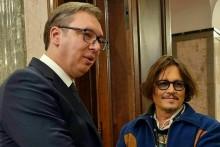 Aleksandar Vučić i Johnny Depp