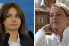 <p>Edita Kalajdžić i Sebija Izetbegović</p>