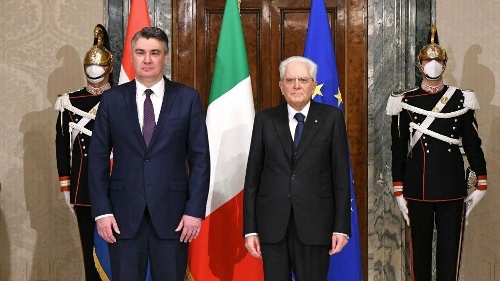 <p>Predsjednik Milanović u Rimu</p>
