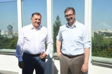 <p>Sastanak Dodika i Vučića u Beogradu</p>