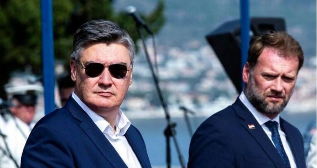 <p>Zoran Milanović i Mario Banožić</p>
