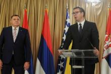 <p>Dodik i Vučić</p>