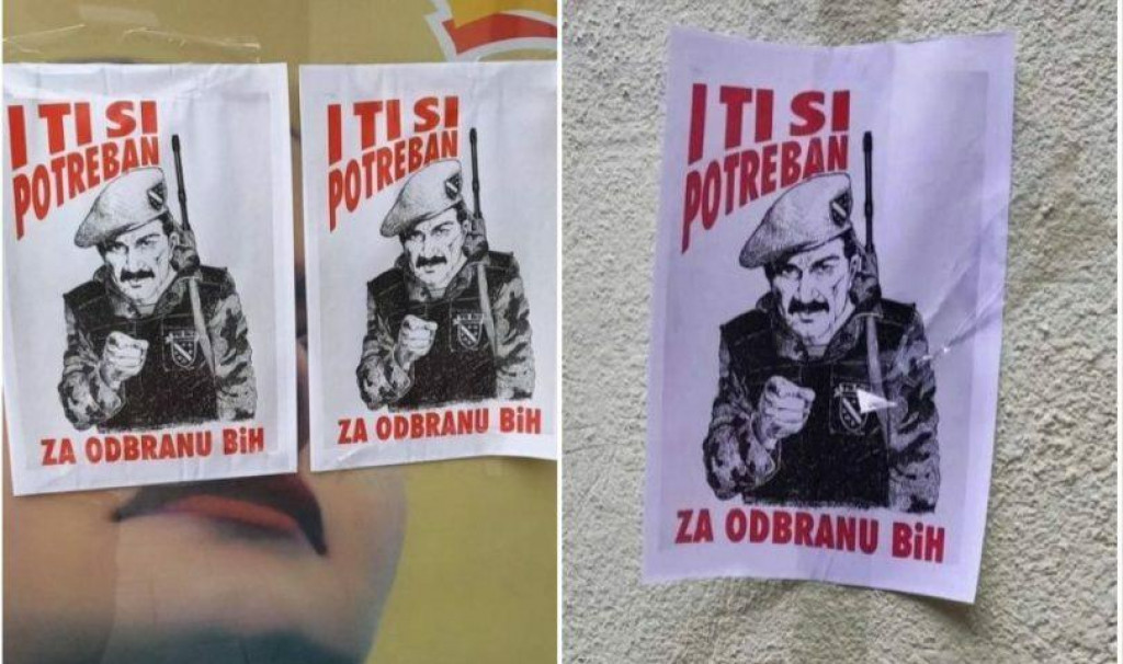 """<p>U Sarajevu osvanuli plakati sa natpisom: """"I ti si potreban za odbranu BiH""""</p>"""